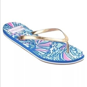 Lilly Pulitzer For Target My Fans Pool Flip Flops
